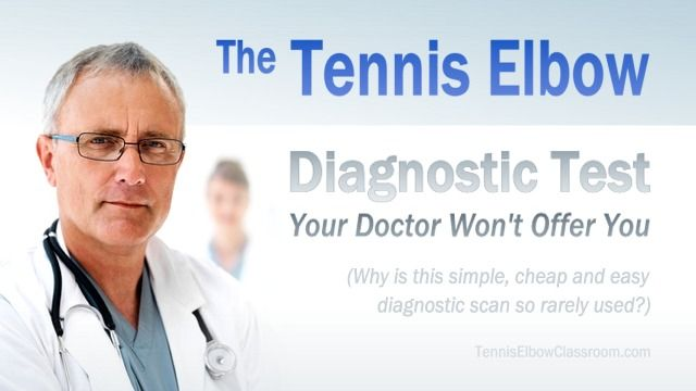 """If a Sonogram 'Ultrasound' can """"see"""" and help diagnose how severe your Tennis Elbow injury is – Why won't your Doctor give you this fast, simple and relatively inexpensive test? (And do you really need it?) - https://tenniselbowclassroom.com/what-is-tennis-elbow-1/sonogram-scan-tennis-elbow-diagnostic-test/ - #TennisElbow"""