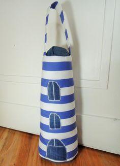 Leuchtturm, Türstopper, DIY, selbst genäht, Anleitung