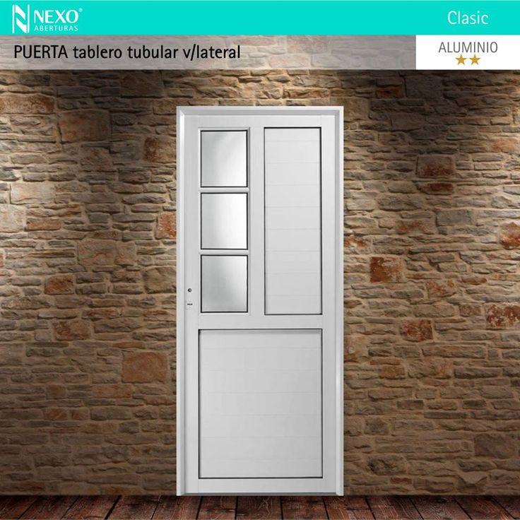 Puerta tablero tubular vidrio lateral l nea aluminio - Tablero vidrio malm ...
