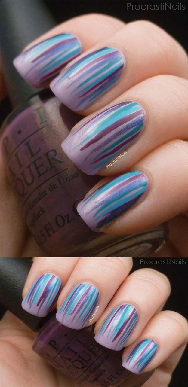 36 Striped Nail Art Ideas | 36 Striped Nail Art Ideas | Pinterest ...