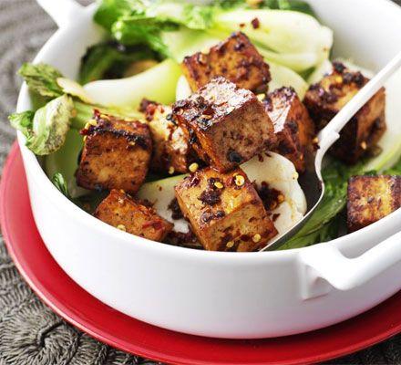 Ginger fried tofu