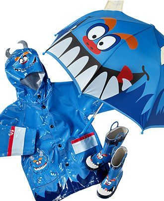 Western Chief Kids Rain Gear, Boys and Little Boys Monster Umbrella - Umbrellas - Handbags & Accessories - Macy's
