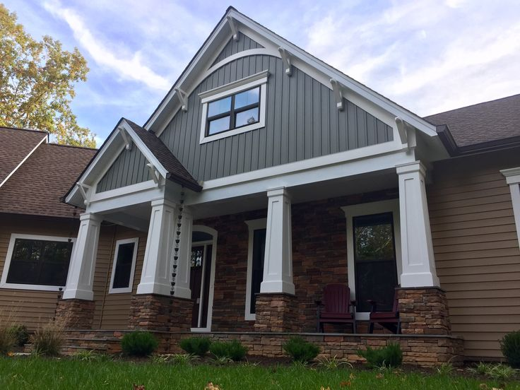 74 best images about j hall homes inc on pinterest tv for Tapered craftsman columns