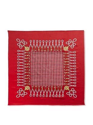 43% OFF J. McLaughlin Women's Mainsail Silk Print Scarf, Crimson/Gold/White