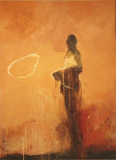 "Figure #22 . 82 x 60"" . oil on panel . 2004   h a r r y a l l y   suzanne w ally"
