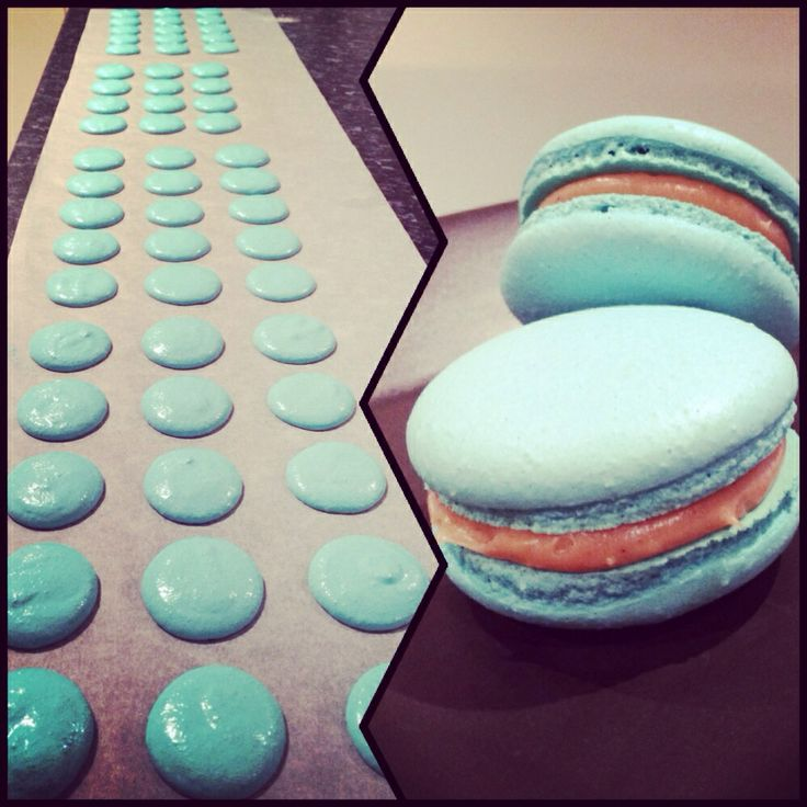 Baked for the Cancer Council's Biggest Morning Tea - salted caramel macarons