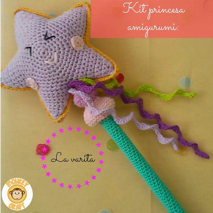 Monkey Craft: Kit princesa amigurumi: la varita mágica