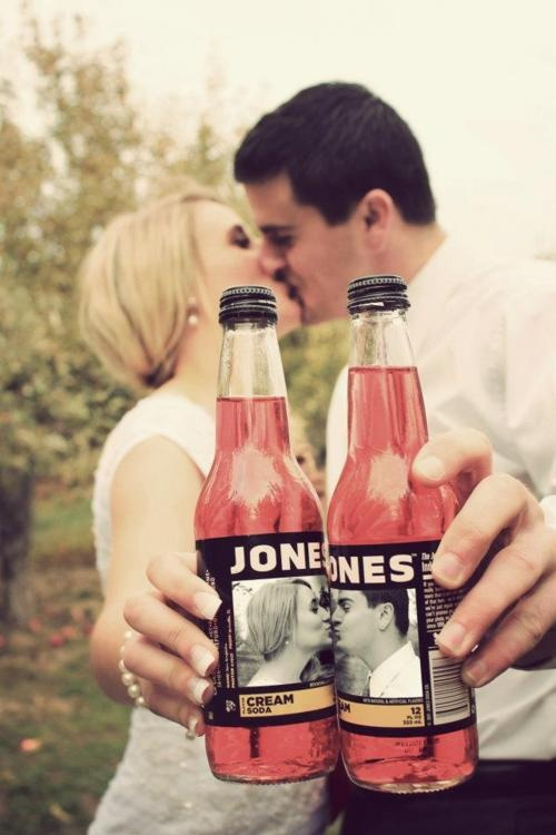 I love this idea! Jones' soda theme :) if last name is jones!