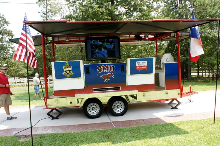 College Football Tailgating Trailer - Bumper Pull | Imagimotive