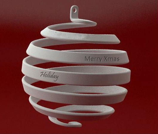 This Christmas, instead of sending the old fashion post card, give your loved one a 3D printed ornament with your customized greeting engraved