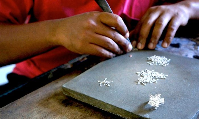 Shiny stuff - Kota Gede is now popular as the center of silver craftmanship. (photo by Edna Tarigan)