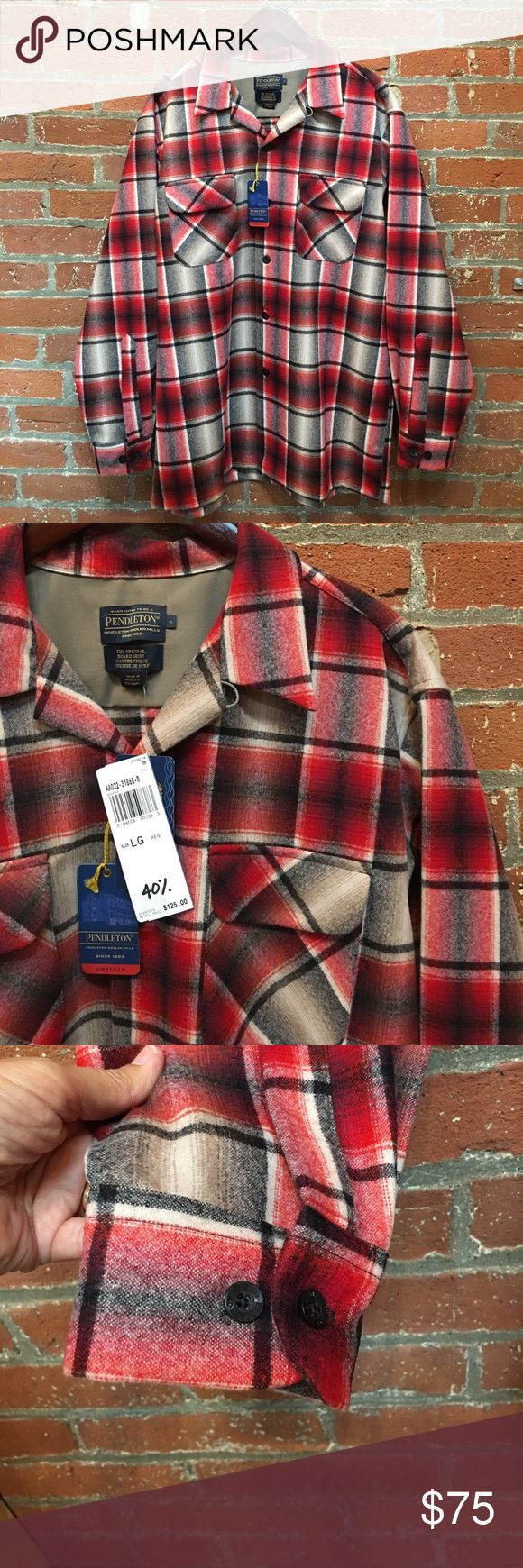 NWT Original Pendleton Board Shirt NWT original Penguin board shirt medium weight 100% virgin wool plain weave. Pendleton Shirts Casual Button Down Shirts