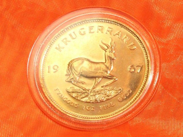 1 Unze Gold aus Südafrika Krügerrand 1967 - Erste Ausgabe - Jubiläum 2017