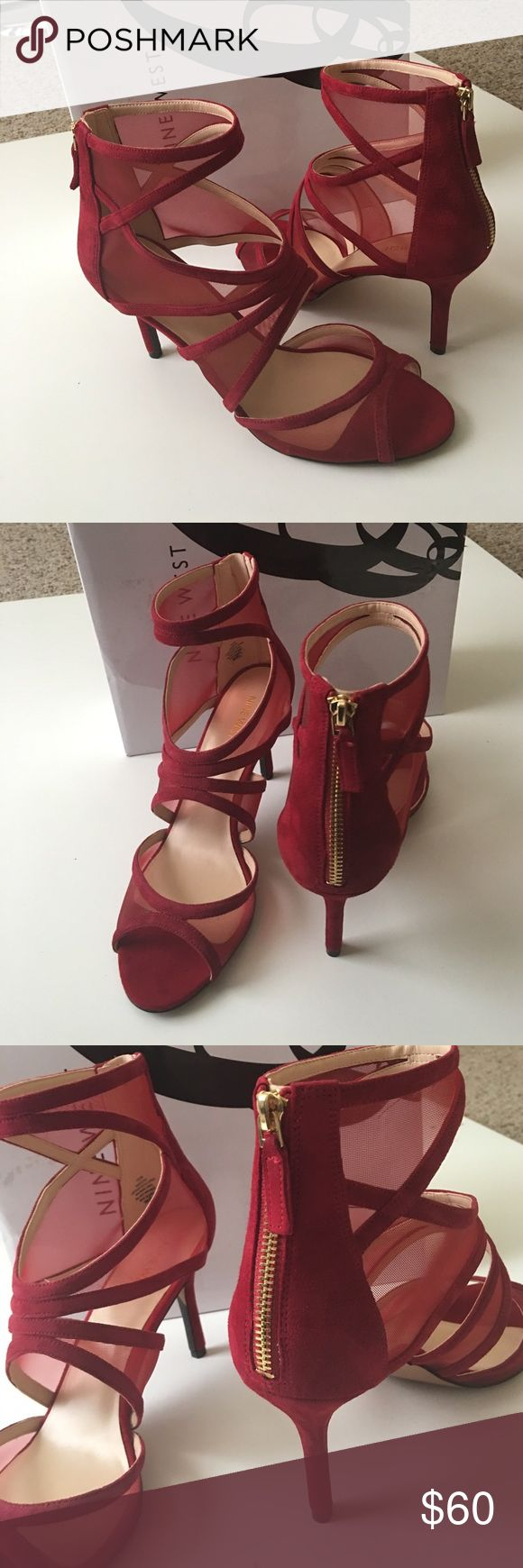 Nine West Heels Brand NEW Beautiful red heels never been worn. Accepting all reasonable offers. Nine West Shoes Heels