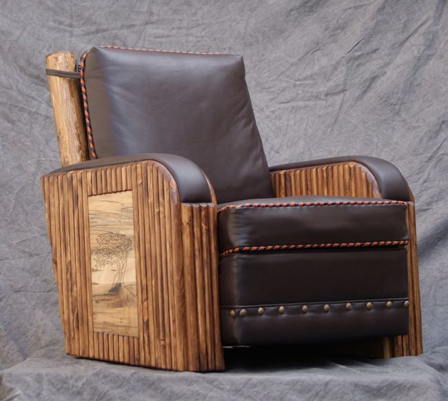 Western recliner molesworth furniture ranch club chair - Western couches living room furniture ...
