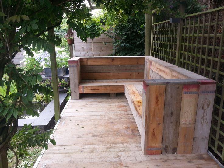 Loungebank Steigerhout Handmade W&J