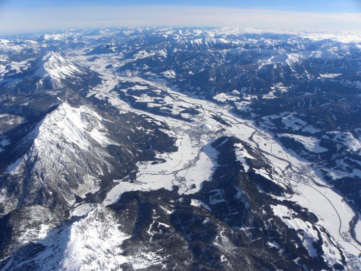 Alpy z ptačí perspektivy