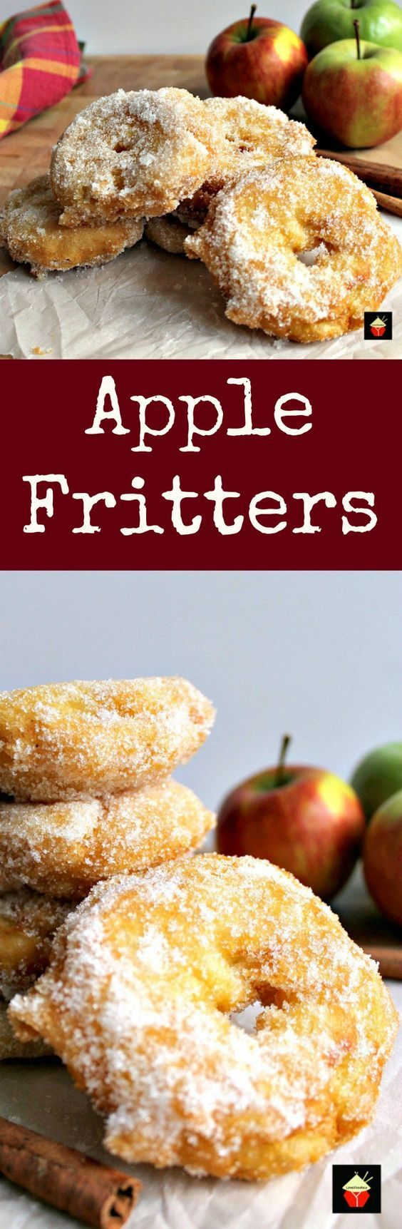 Leckeres Nachtisch Rezept für Naschkatzen - Apfelküchlein in 5 min *** Quick and easy recipe - Apple Fritters. Served warm with a drizzle of syrup, honey or a blob of ice cream.. makes for a perfect dessert!