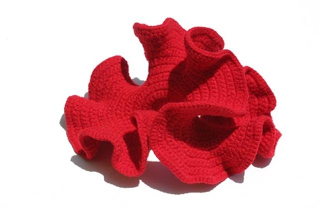 The Hyperbolic Crochet Coral Reef es un proyecto creado por las hermanas Margaret and Christine Wertheim para hacer consciencia del peligro que corren los arrecifes en el mundo. Este proyecto comenzo en el años 2005 cuando las hermanas comenzaron a realizar arrecifes con ganchillo (crochet). El arrecife se encuentra ahora en exhibición en el Smithsonian, con grupos de coloridos corales y otras especies marinas realizados con hilos y materiales reciclados.