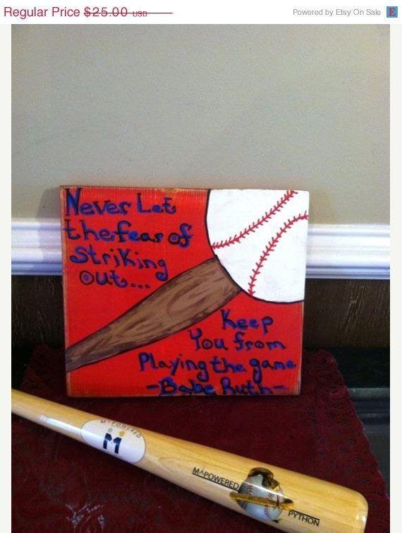 ON SALE Baseball Sign Décor, Baseball Signs, Wood Baseball Sign, Baseball, Babe Ruth, Play Ball, Team Sport, Wood Decor, Home Decor, Basebal