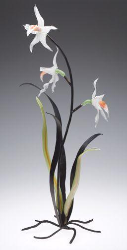 Loy Allen Glass ~ 2009 Standing Metal & Glass