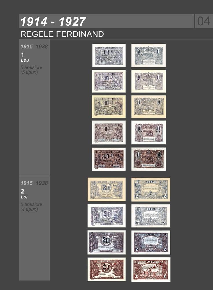 Romanian banknotes 1914-1927