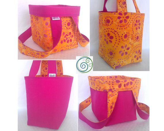 Knitting Project Bag  Fuchsia Pink Canvas by ShinySheepDesigns, $22.00