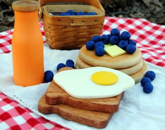 Gorgeously Detailed Wooden Play Food Sets for Endless Make Believe Dining