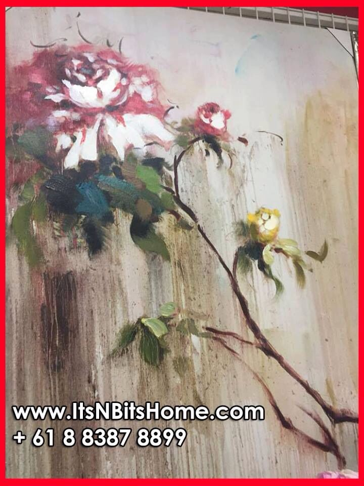 Stunning Rose painting ready to beautify your home! For more details, CALL +61 8 8387 8899 #itsnbitshome #adelaideloves