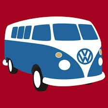 Vw Camper Van Cartoon Sketch