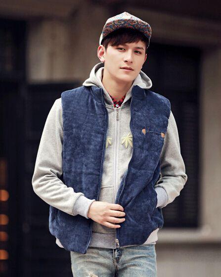 Sleeveless cotton jacket mens