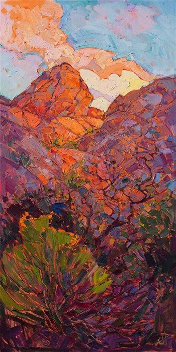 Joshua Dawn II - Modern Impressionism   Contemporary Landscape Oil Paintings for Sale by Erin Hanson