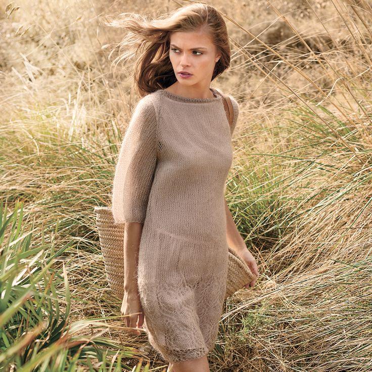 Платье с ажурной каймой