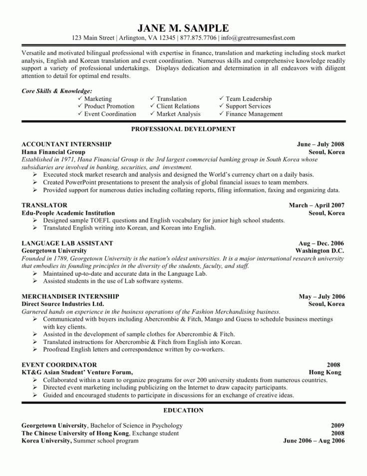 Career Summary Example. The 25+ Best Objective Examples For Resume