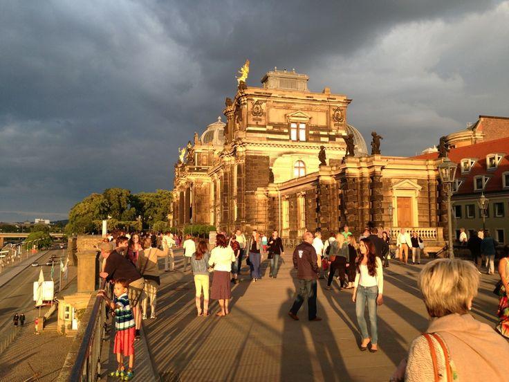 Brühlsche Terrasse in Dresden, Sachsen