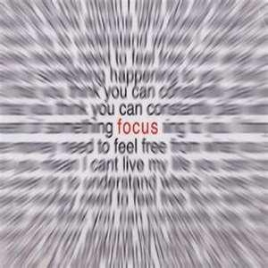 On living life with adhd. focus does not come easy