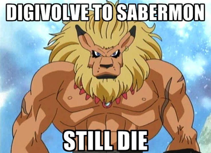 These Digimon Anime Memes are Super Funny: Digivolve to Sabermon, Still Die Digimon Meme