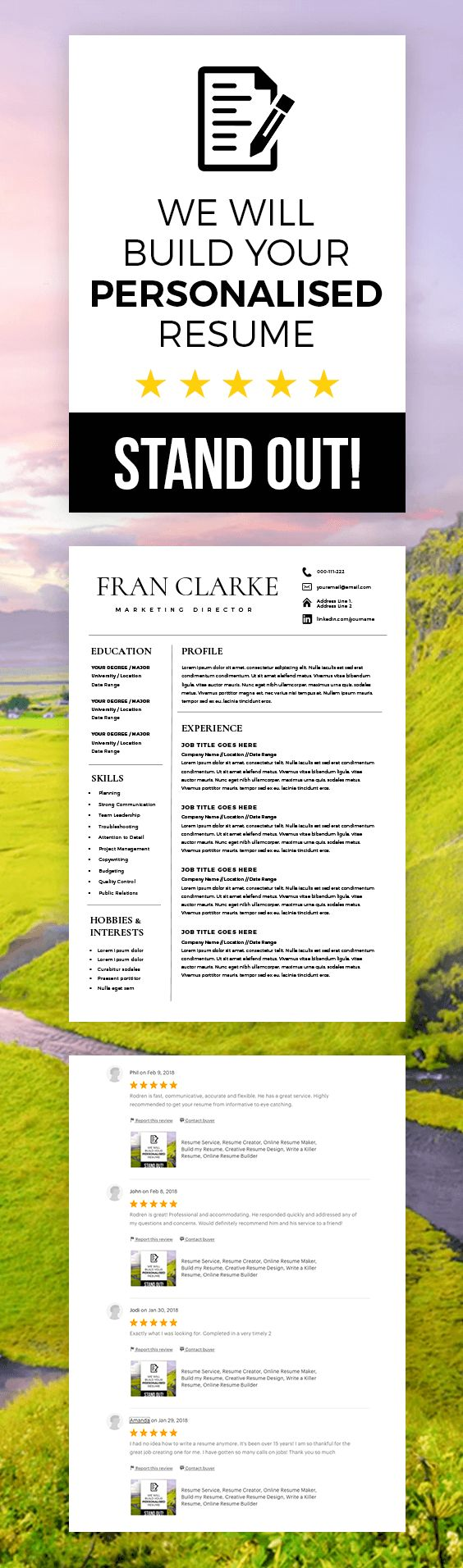 190 best group board resume templates tips images on pinterest