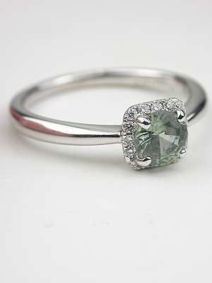Simply Elegant Green Sapphire Engagement Ring, RG-3274a