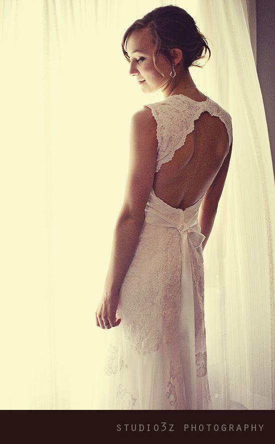 keyhole back lace dress, david's bridal collection