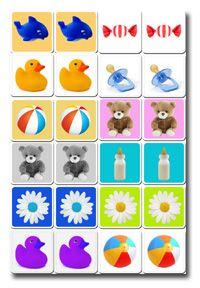 printable memory game for baby