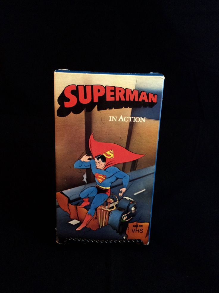 Superman In Action - 1989 - Vintage VHS Tape - 80s cartoon movies by TheTimeTravelingPug on Etsy