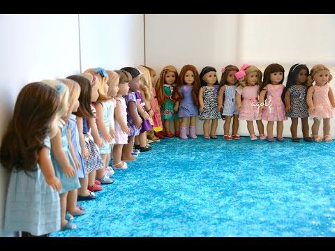 All My American Girl Dolls Spring 2015 ~ HD MUST WATCH IN HD ~ - YouTube