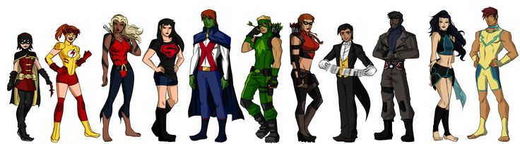 Young Justice: The Team- Rule 63 by callousvixen.deviantart.com on @deviantART