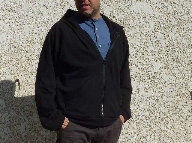 La famille créative: [Patron gratuit] Une veste/sweat à capuche pour monsieur