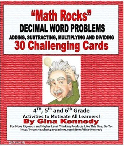 decimals word problems problem solving task cards for upper elementary student words and decimal. Black Bedroom Furniture Sets. Home Design Ideas