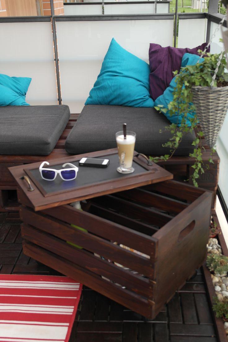 garden crate table