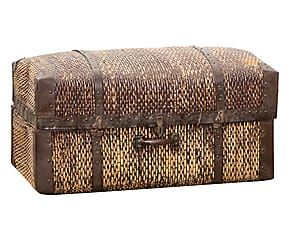 Baule da viaggio in rattan intrecciato - 55x46x92 cm