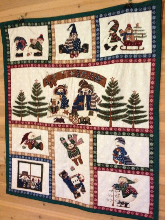 110 best Quilts/Tapestries for Christmas images on Pinterest ... : christmas quilt wall hanging - Adamdwight.com
