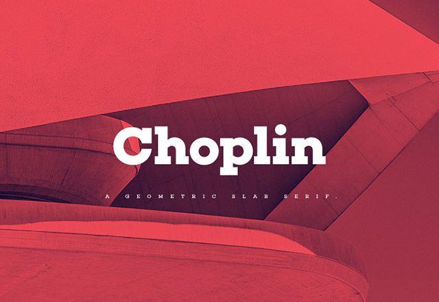 Free font: Choplin